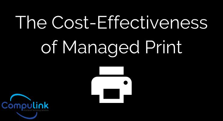 coast effectivness managed print